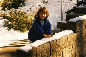 Amanda conhece a neve.